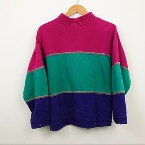 Vintage The Limited colorblock pullover